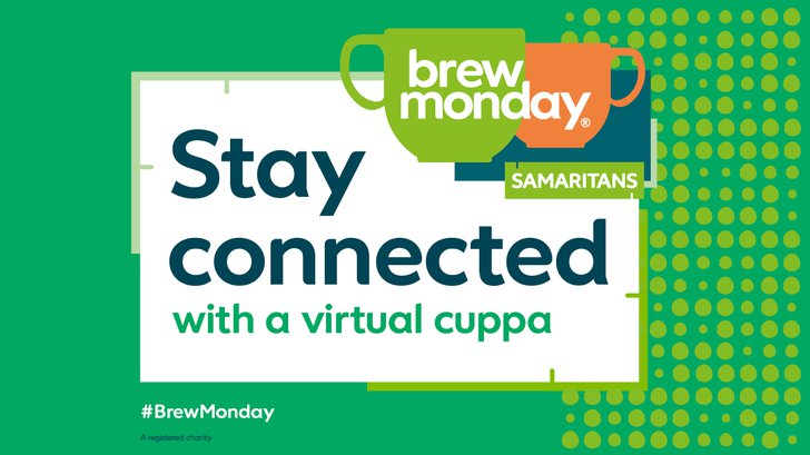 Samaritans Brew Monday - stay connected with a virtual cuppa