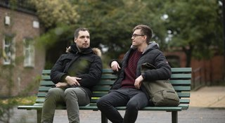 Men-talking-bench