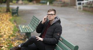 Man-phone-bench