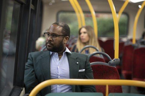 Man-bus-commuting