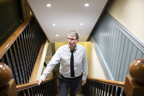 Man-office-stairs
