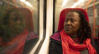 Woman-train-window