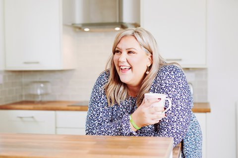 Great British Bake Off Finalist and Samaritans volunteer Laura Adlington has a virtual cuppa in support of Samaritans Brew Monday (photo credit Kate Peters).jpg