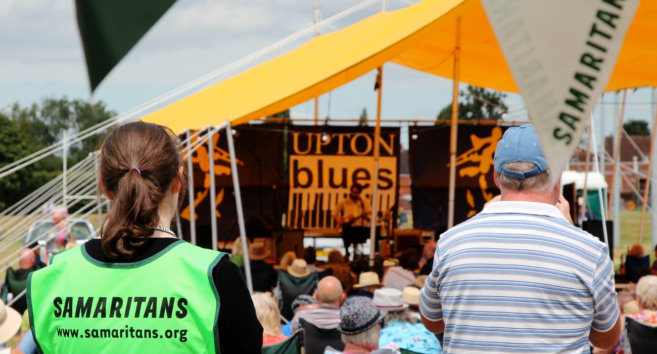 Worcester Samaritans at the Upton Blues Festival
