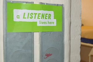 Prison sign for Samaritans listeners