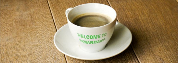 Coffee cup welcome