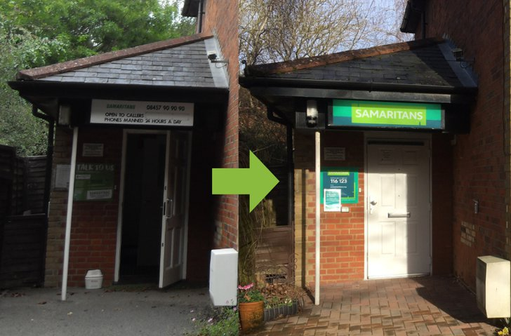 Hope Cottage before and after branding change